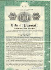 USA 1966 CITY OF PASSAIR, NEW YERSEY (WATER SUPPLY BOND 1966), attraktive 3,70%