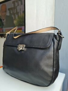 TULA BLACK REAL LEATHER SHOULDER BAG == IMMACULATE CONDITION