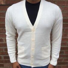 New Mens V neck Button Plain Cardigan Classic Knitwear Cotton Tops BNWT