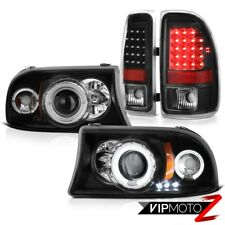 1997-2004 Dodge Dakota Magnum Angel Eye Drl Headlamps Rear Smd Brake Tail Lights (Fits: Dodge)