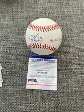 "Austin Martin Signed Official MLB baseball Inscribed ""Anchor Down"" PSA/DNA"
