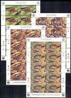 Seychelles 2003 WWF/Frogs/Conservation/Animals/Nature  4v x 10v shts (n10850a)