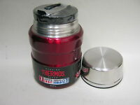 New Thermos Stainless Steel Vacuum Insulated King Food Flask 0.47 Litre Red