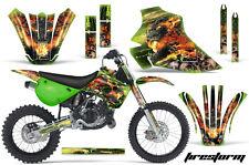 Kawasaki KX80 KX100 Graphic Kit AMR Racing Bike Decal Sticker KX 95-97 FSTORM G