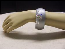 NWT,  Silver colored Womens bangle bracelet Sequin highlights,  FREE SHIPPING !!