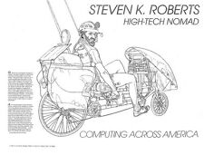 Winnebiko II poster - Computing Across America, Steven K. Roberts - autographed