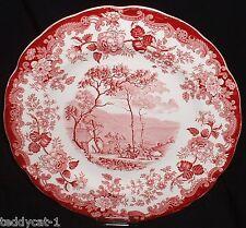 Royal Worcester PALISSY Avon Scenes ROT ~ Speiseteller 28cm / Platzteller Platte