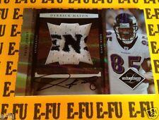 2008 Leaf Limited DERRICK MASON Autograph GU Ravens Letter Jersey TRUE# 1/1 Auto
