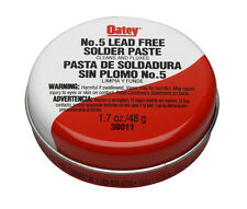 Oatey 30011 No. 5 Lead Free Solder Paste Cleans And Fluxes 1.7 oz *