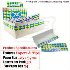 Highland Double Decadence King Size Smoking Papers & Tips - One Full New Box