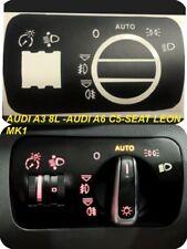Interruptor Luz  Auto AUDI A3 8L AUDI S3 8L SEAT Leon Mk1 Kit Pegatinas Stikers