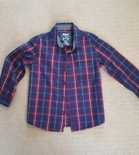 boys navy checked shirt size 3-4 years