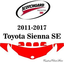 3M Scotchgard Paint Protection Film 2011 - 2014 2015 2016 2017 Toyota Sienna SE