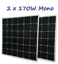 340W ( 2 x 170W ) Grade A mono Solar Panel panneau solaire 12V RV Boat Trailer