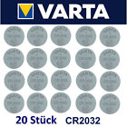 20x Varta CR2032 Batterien Knopfzellen Knopfzelle Batterien MHD 2030 20 Stück