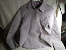 Mixit Women's 4 Suede Jacket, Snap Front/Cuffs, Washable, Lavender Lilac