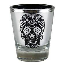 Day of the Dead Metallic Sugar Skull Party Shot Glass Novelty Joke Gag Gift