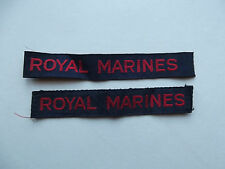 WW2 ROYAL MARINE CLOTH SHOULDER TITLES LATE WAR
