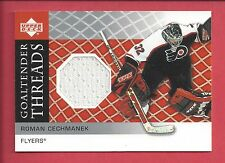 2002-03 Upper Deck Goaltender Threads Jerseys #RC Roman Cechmanek GT-RC