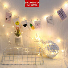 20-100 LED Hanging Picture Photo Peg Clip Fairy String Lights Wedding Home Store