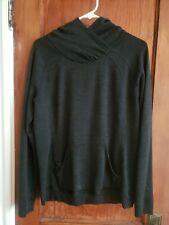 Ibex Women's Medium Hooded Sweatshirt Charcoal Grey