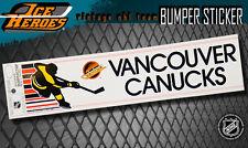 VANCOUVER CANUCKS Vintage Bumper Sticker - Unused - NOS - NM