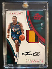 2016-17 IMMACULATE COLLECTION GRANT HILL 3 COLOR PATCH AUTO CARD #08/25