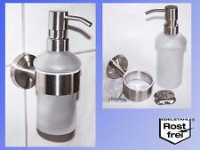conception en acier inoxydable Distributeur de savon avec support 220ml verre