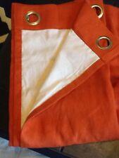 "NEW CROSCILL HOME Orange Lined 50"" X 84"" Drapery Panel"