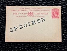 POSTCARD STRAITS SETTLEMENTS KING GEORGE V 1918 FOUR 4 CENTS SPECIMEN