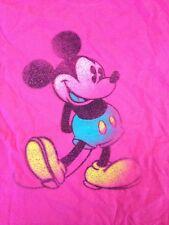 "Disneyland Disney World Pink Distressed Vtg Style Mickey Mouse T-Shirt L 42"" Cst"
