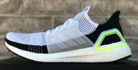 ADIDAS ULTRABOOST 19 M RUNNING SHOES EF1344 WHITE / BLACK / GREEN NEW MENS BOOST