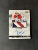 2017-18 UPPER DECK PREMIER VICTOR METE ROOKIE AUTO PATCH SILVER #ed 105/299