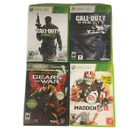4 Xbox 360 Video Games Call Of Duty MW3 & Ghosts & Gears of War & Madden NFL 12