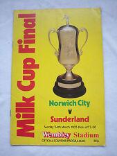 Orig.PRG   ENGLAND  League Cup  1984/85  FINALE   NORWICH CITY - SUNDERLAND FC !