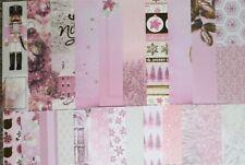CARDSTOCK Kit, Pink Christmas Holiday, Tree, Santa, Ornament, Gold Foil, Beard