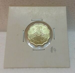 HONG KONG  Commemorative 20 cents coin 1997 Butterfly Kites  UNC/BU  #4