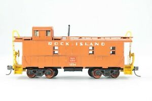HO Athearn Custom Paint / Decal Rock Island Regular Caboose + Sprung Trucks & KD