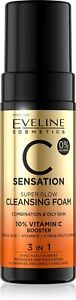 Eveline C Sensation 10% Vitamin C Booster Super Glow Cleansing Face Foam 150ml