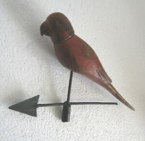 WOODEN BIRD / PARROT WEATHER VANE / DETAILED WEATHERVANE
