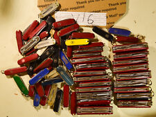 Lot of damaged Victorinox Swiss Army knives for parts #V16