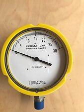 Perma-Cal Process Gauge 121TID02Y23 / 5 PSI Divisions/ 0-30 Psi (135D)/ Yellow