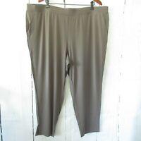 H By Halston Pants 2X Petite Brown Jet Set Jersey Ankle Plus Size QVC