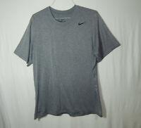 Nike Dri Fit Activewear Short Sleeve T Shirt Gray Size Large L Mens Clothing