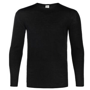 NEW- Merino Wool Men's 250 Base Layer Crew Top All sizes Black