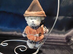 "Boyds Bears Plush Fall/Autumn SCARECROW ORNAMENT ""LIL' EINSTEIN"" - EC"