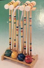 NEW Vintage Franklin Collegiate 4 Player Croquet Set