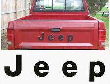 86-92 JEEP MJ COMANCHE PICK UP TAILGATE DECAL STICKER LETTERS DECALS PIONEER