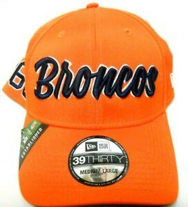 NEW ERA 39Thirty Denver Broncos NFL Established Football Hat Cap Medium Large