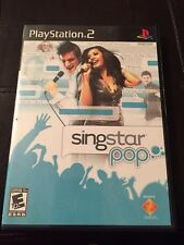 PlayStation 2 Sing star Pop Everyone Sony Game Used